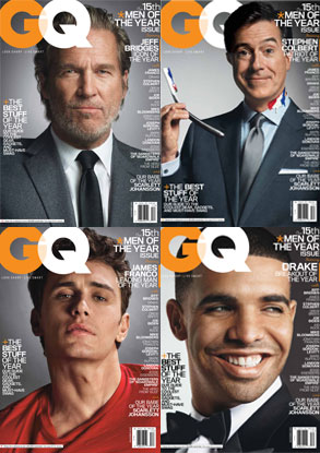 GQ Cover, Jeff Bridges, Drake, James Franco, Stephen Colbert