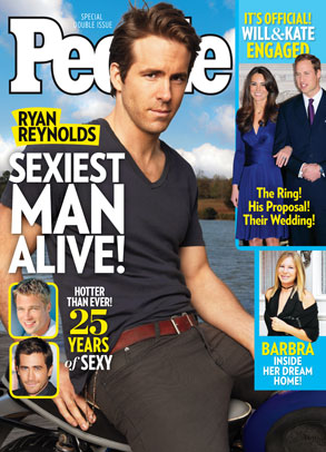 RyanReynolds, People Magazine Sexiest Man