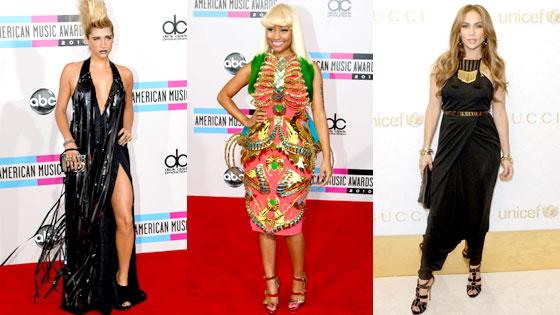 Kesha, Nicki Minaj, Jennifer Lopez