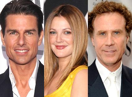 Will Ferrell, Drew Barrymore, Tom Cruise