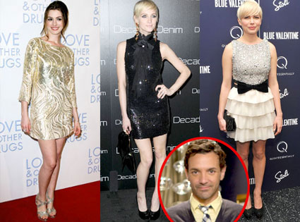Anne Hathaway, Ashlee Simpson-Wentz, Michelle Williams, George Kotsiopoulos