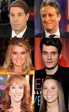 Rick Sanchez, Jon Stewart, Jessica Simpson, John Mayer, Kathy Griffin, Bristol Palin