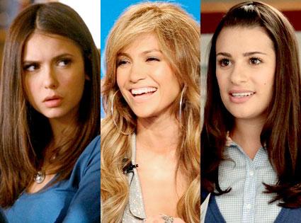 Elena Dobrev, he Vampire Diaries, Jennifer Lopez, American Idol, Lea Michele, Glee