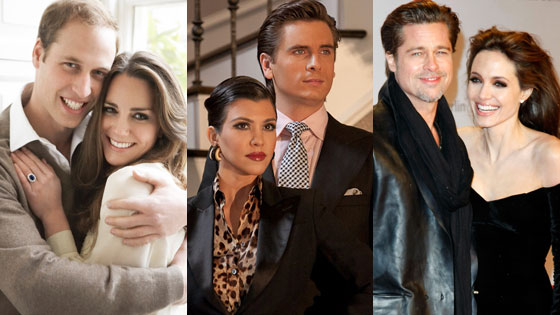 Kate Middleton, Prince William, Scott Disick, Kourtney Kardashian, Angelina Jolie, Brad Pitt