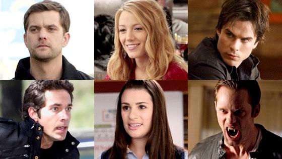 Josh Jackson, Fringe, Gossip Girl, Blake Lively, Vampire Diaries, Ian Somerhalder, Chuck, Zachary Levi, Glee, Lea Michele, Alexander Skarsgard, True Blood