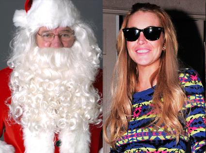 Santa Claus, Lindsay Lohan