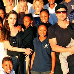 Angelina Jolie, Zahara, Brad Pitt, Shiloh