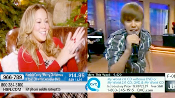 Mariah Carey, Justin Bieber
