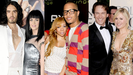 Russell Brand, Katy Perry, Tameka Cottle, T.I., Stephen Moyer, Anna Paquin