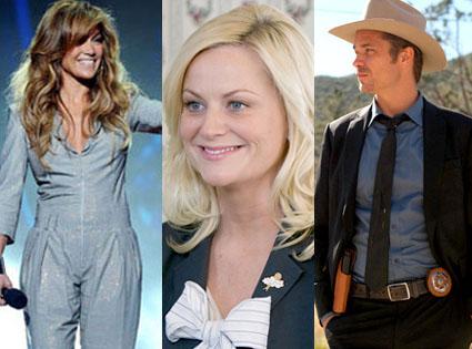 Justified, Timothy Olyphant, Jennifer Lopez, American Idol, Amy Poehler, Parks & Recreation