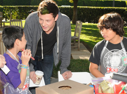 Glee Charity Event, Cory Monteith