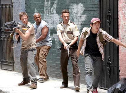 The Walking Dead, Norman Reedus, Robert Singleton, Andrew Lincoln, Steven Yeu
