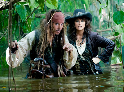 Johnny Depp, Penelope Cruz, Pirates of the Caribbean on Stranger Tides