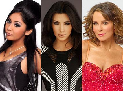 Snooki, Kim Kardashian, Jennifer Grey