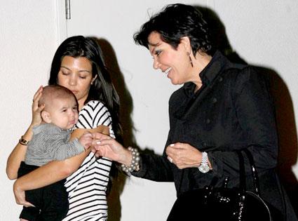 Kourtney Kardashian, Kris Jenner, Mason