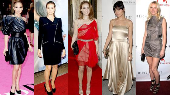 Jennifer Lopez, Heidi Klum, Natalie Portman, Nicole Richie, Gwyneth Paltrow