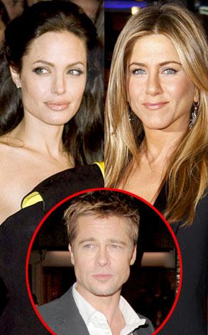 Angelina Jolie, Jennifer Aniston, Brad Pitt