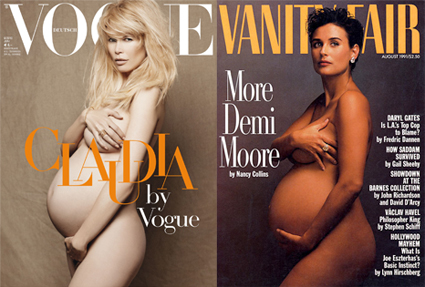 Claudia Schiffer, Vogue, Demi Moore, Vanity Fair