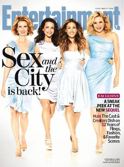 Cynthia Nixon, Kristin Davis, Sarah Jessica Parker, Kim Cattrall, EW Cover