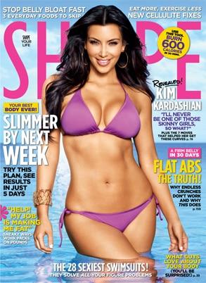 Kim Kardashian, Shape Cover