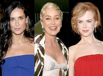 Demi Moore, Sharon Stone, Nicole Kidman