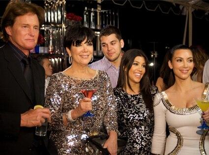 Bruce Jenner, Kris Jenner, Robert Kardashian, Kourtney Kardashian, Kim Kardashian