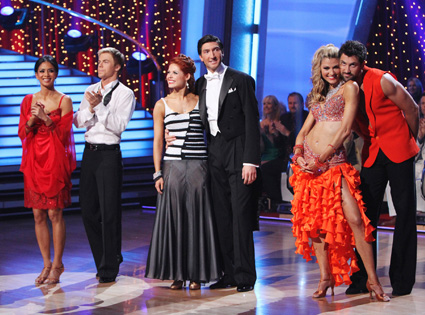 NICOLE SCHERZINGER, DEREK HOUGH, ANNA TREBUNSKAYA, EVAN LYSACEK, ERIN ANDREWS, MAKSIM CHMERKOVSKIY, Dancing with the Stars