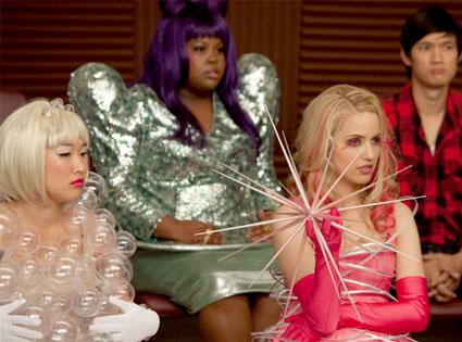 Glee, Amber Riley, Jenna Ushkowitz, Dianna Agron