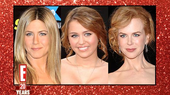 Jennifer Aniston, Nicole Kidman, Miley Cyrus