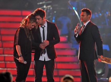 Crystal Bowersox, Lee DeWyze, Ryan Seacrest, American Idol