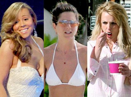 Mariah Carey, Jennifer Aniston, Britney Spears