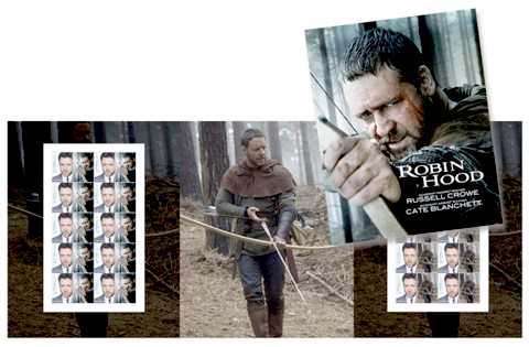 Russell Crowe, Robin Hood Stamps