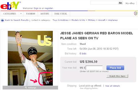 Jesse James, eBay Auction