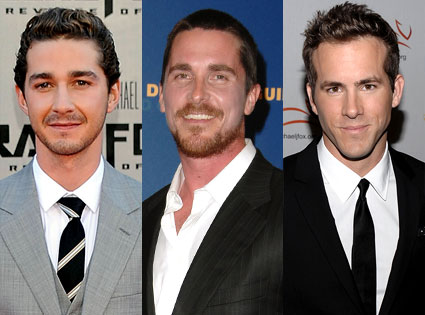 Christian Bale, Ryan Reynolds, Shia LaBeouf