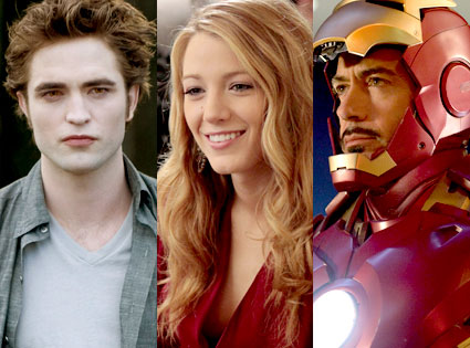 Robert Pattinson, Blake Lively, Robert Downey Jr.