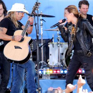 Miley Cyrus, Bret Michaels