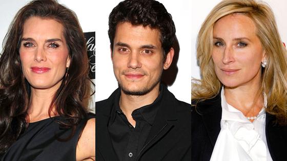 Brooke Shields, John Mayer, Sonja Morgan