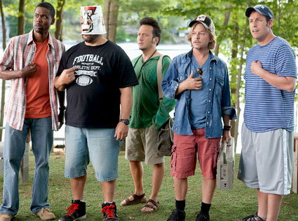 David Spade, Rob Schneider, Chris Rock, Kevin James, Adam Sandler, Grown Ups