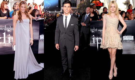 Ashley Greene, Taylor Lautner, Dakota Fanning