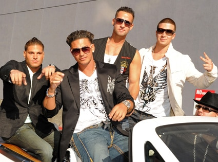 Ronnie 'Fist Pump Brah' Magro, Pauly Del Vecchio, Mike 'The Situation' Sorrentino, Vinny Guadagnino
