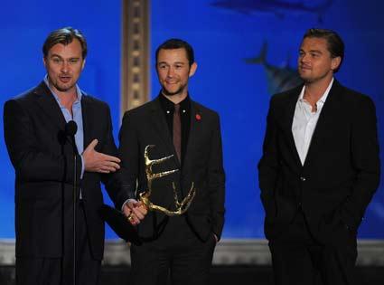 Christopher Nolan, Joseph Gordon-Levitt, Leonardo DiCaprio