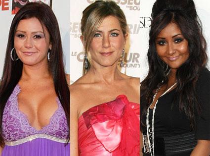 Nicole Snooki Polizzi, Jenni Woww Farley, Jennifer Aniston