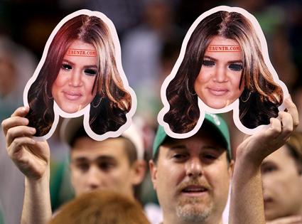 Khloe Kardashian Masks, Celtics Game