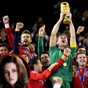 Eclipse, Kristen Stewart, Spain Soccer Team, World Cup