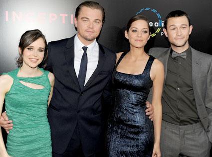 Ellen Page, Leonardo DiCaprio, Marion Cotillard, Joseph Gordon-Levitt