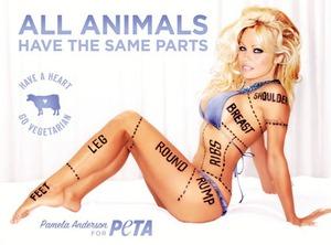 Pamela Anderson, PETA Ad