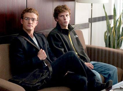 Justin Timberlake, Jesse Eisenberg, The Social Network