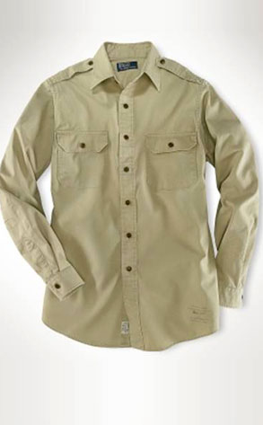 Ralph Lauren's Slim Custom-Fit Military Twill