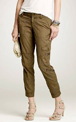 Cropped Ripstop Cargo Pant