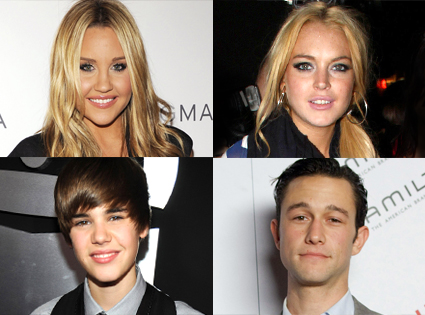 Lindsay Lohan, Lindsay Lohan, Justin Bieber, Joseph Gordon-Levitt